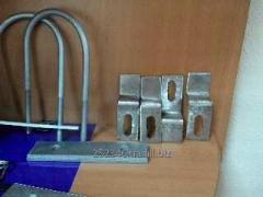 Collar U-shaped (bolt bracket) M8, covering zinc