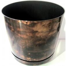 Горшок декоративный 2,5л Ø16см Черный