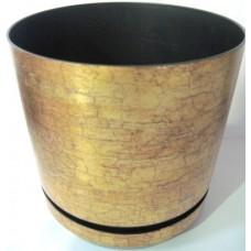 Горшок декоративный 2,5л Ø16см Золотой