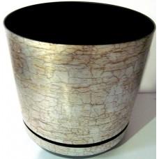 Горшок декоративный 2,5л Ø16см Серый