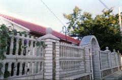 Заборы бетонные для дачи
