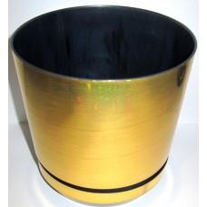 Горшок декоративный 1,2л Ø12,5см Золотой
