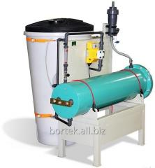 "Electrolysis system ""Flame"" on 25 kg for water disinfecting by sodium hypochlorite"