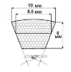 Ремни профиль Z,(0), 10х6 мм