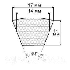 Ремни профиль В(Б), (B), 17х11 мм