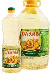 Масло подсолнечное рафинированное дезодорированное вымороженное в ПЭТ-бутылках на экспорт (Refined deodorized sunflower oil in PET bottles)