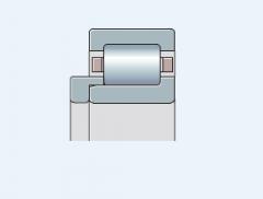 Подшипник роликовый однорядный типа NU с фасонным кольцом HJ