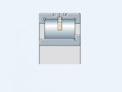 Подшипник роликовый однорядный с дисковым или сегментным сепаратором