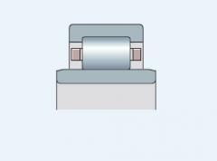 Подшипник радиальный однорядный с широким внутренним кольцом типа NUB