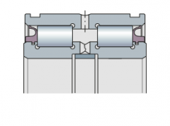 Подшипник радиальный двухрядный бессепараторный с уплотнением