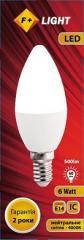 LED lamp of C37B 6W 4000K E14 IC