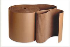 Corrugated cardboard rolled - wave effect, in
