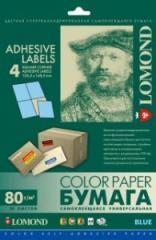 Односторонняя матовая самоклеящаяся универсальная фотобумага на 4 деления, А4, 80 г/м2, 50 листов, код 2140025