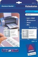 Бумага для визиток Avery, С32011-10, А4, код С32011-10