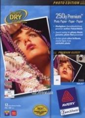 Фотобумага для струйных принтеров Avery Premium глянцевая, А4 250 гр/м.кв 25 листов , код 2556