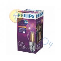 Светодиодная лампа Philips LEDClassic 4.5-50W P45 E27 WW CL D шар (929001227608)