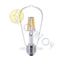 Светодиодная лампа Philips LEDClassic 7-70W ST64 E27 WW CL D APR димм. (929001228608)