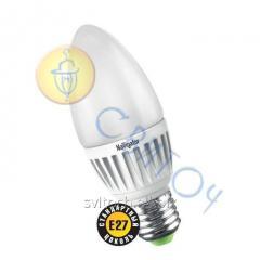 Светодиодная лампа Navigator 94394 NLL-C37-5W 230V 2700K E27 FR матовая свечка