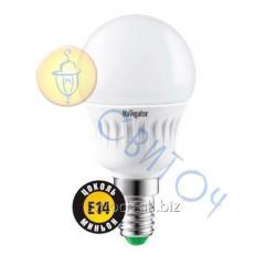 Светодиодная лампа Navigator 94466 NLL-G45-7-230-2.7K-E14 шар матовая 7W