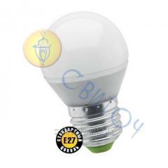 Светодиодная лампа Navigator 94477 NLL-P-G45-5-230-2.7K-E27 шар матовая 5W