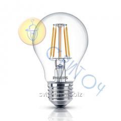 Светодиодная лампа Philips LED Fila 7.5-70W E27 WW A60 ND филаментная