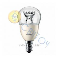 Светодиодная лампа Philips MAS LEDluster D 6-40W E14 827 P48 CL шар (929001140602)