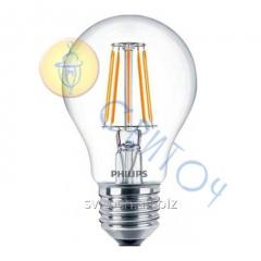 Светодиодная лампа Philips LED Fila 4.3-50W E27 WW A60 филаментная стандартная (929001180407)