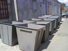 Баки для мусора металлические