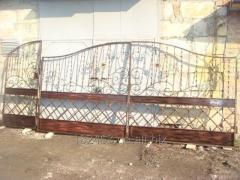 Ворота металлические кованые,готовые