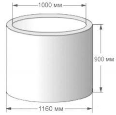 Железобетонные колодезные кольца КС 10.9