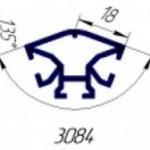 Вертикальный профиль для торгового 135гр. T3084