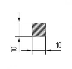 Алюминиевая полоса/шина АН15 10х10