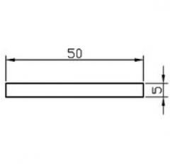 Алюминиевая полоса/шина АН15 2х15