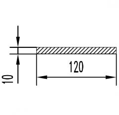 Алюминиевая полоса/шина АН15 4х30