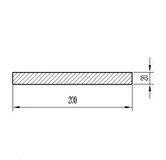 Алюминиевая полоса/шина Б.П. 10х80*