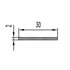 Алюминиевая полоса/шина Б.П. 2х15