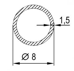 Труба круглая АН15 12х1,5