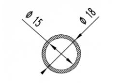 Труба круглая Б.П. 19х1,2