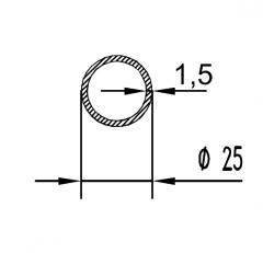 Труба круглая Б.П. 25х7,8