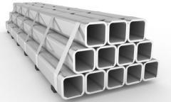 Труба алюминиевая квадратная, профильная АД31Т5 АН15 10х20х1