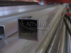 Труба алюминиевая квадратная, профильная АД31Т5 АН15 35х1,2