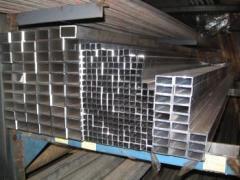 Труба алюминиевая квадратная, профильная АД31Т5 АН15 80х3