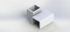 Труба алюминиевая квадратная, профильная АД31Т5 АН15 АxВхs мм