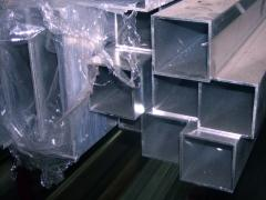 Труба алюминиевая квадратная, профильная АД31Т5 Б.П. 40х3