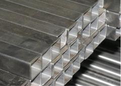 Труба алюминиевая квадратная, профильная АД31Т5 Б.П. 50х2