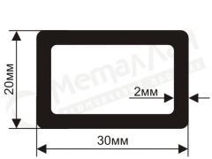 Труба алюминиевая квадратная, профильная АД31Т5 Б.П. 50х3