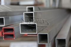 Труба алюминиевая квадратная, профильная АД31Т5 Б.П.20х20х1