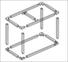 Труба алюминиевая квадратная, профильная АД31Т5 Б.П.20х30х2