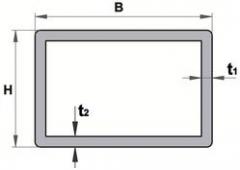 Труба алюминиевая квадратная, профильная АД31Т5 Б.П.30х40х2,5
