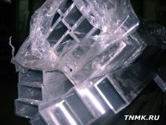 Труба алюминиевая квадратная, профильная АД31Т5 Б.П.50х100х3
